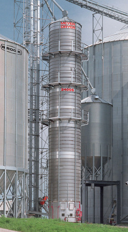 Brock's continuous flow MEYER ENERGY MISER® Tower Grain Dryer.